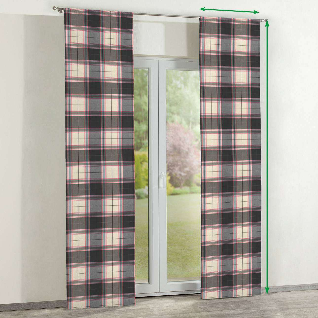 Slot panel curtains – Set of 2 in collection Bristol, fabric: 125-32