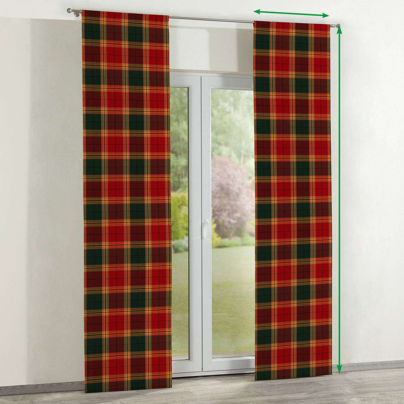 Slot panel curtains – Set of 2 in collection Bristol, fabric: 125-48
