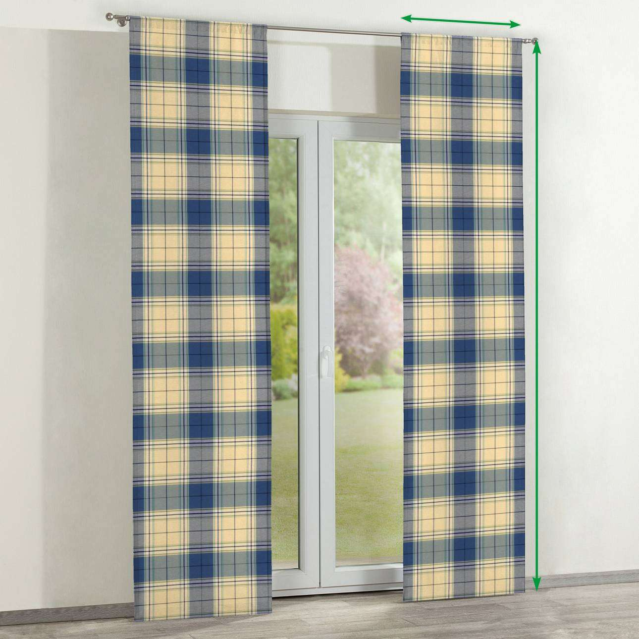 Slot panel curtains – Set of 2 in collection Bristol, fabric: 125-69