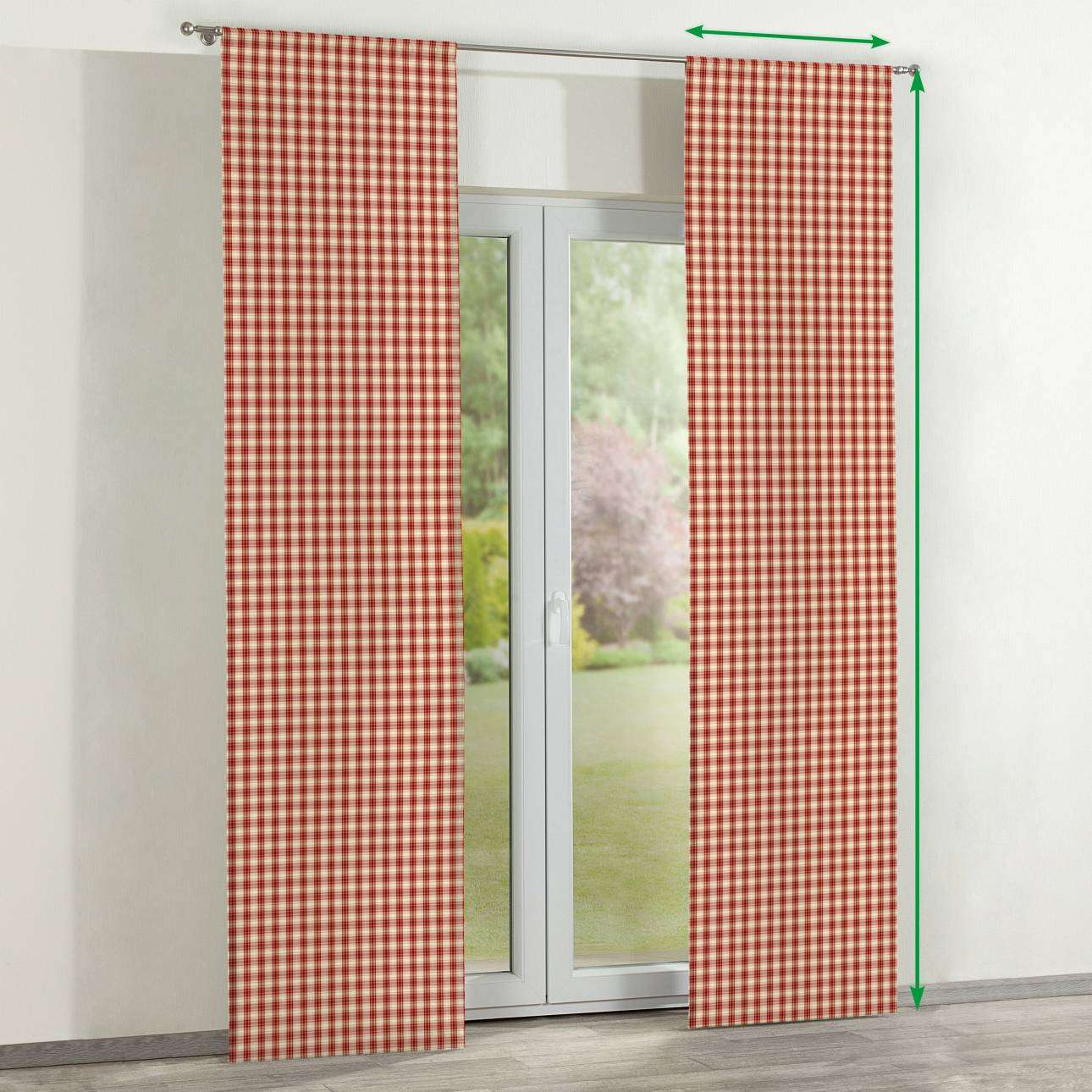 Slot panel curtains – Set of 2 in collection Bristol, fabric: 126-09