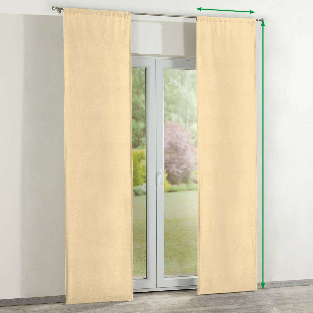 Slot panel curtains – Set of 2 in collection Jupiter, fabric: 127-42