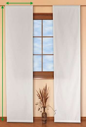 Slot panel curtains – Set of 2 in collection Romantica, fabric: 128-77