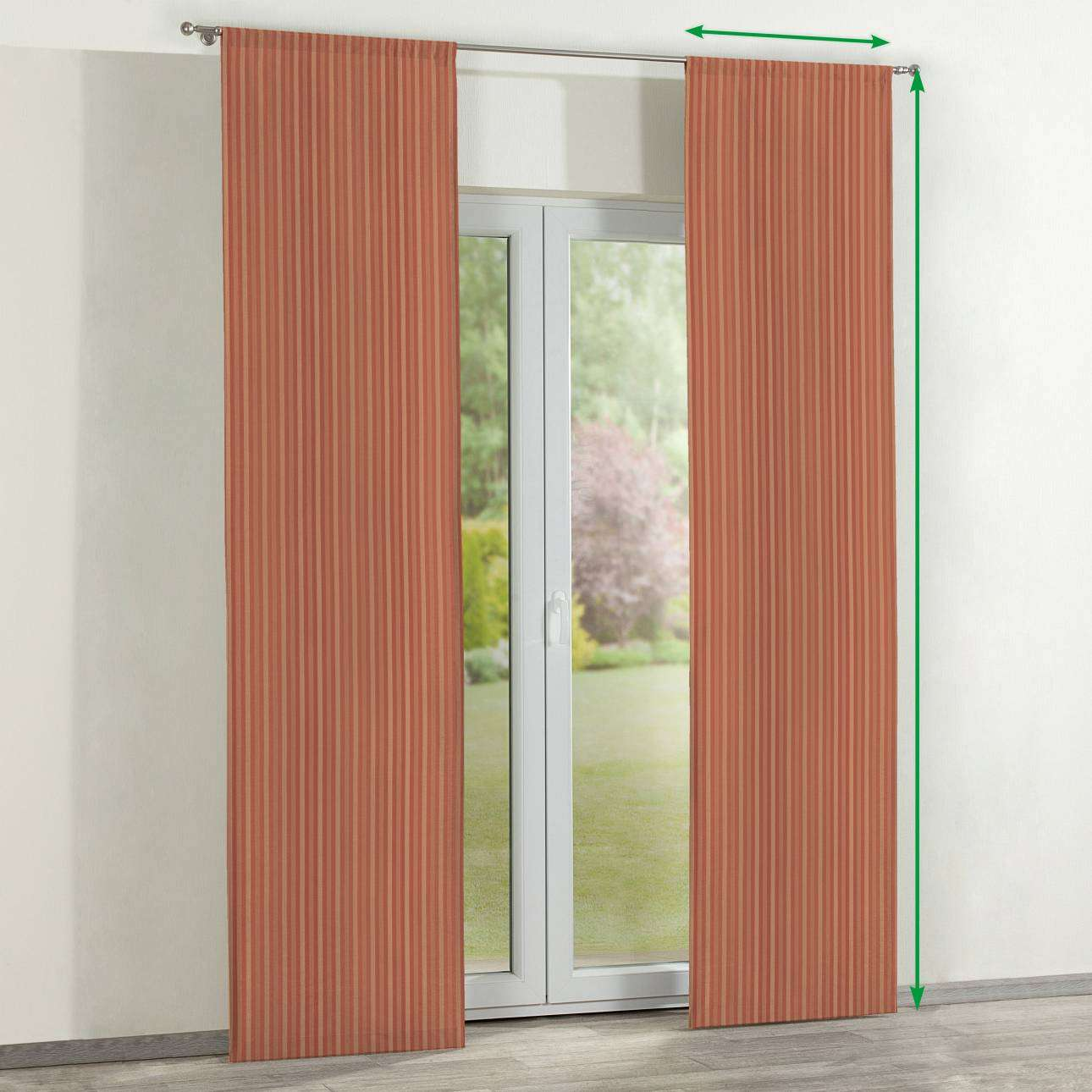 Slot panel curtains – Set of 2 in collection Victoria, fabric: 130-07