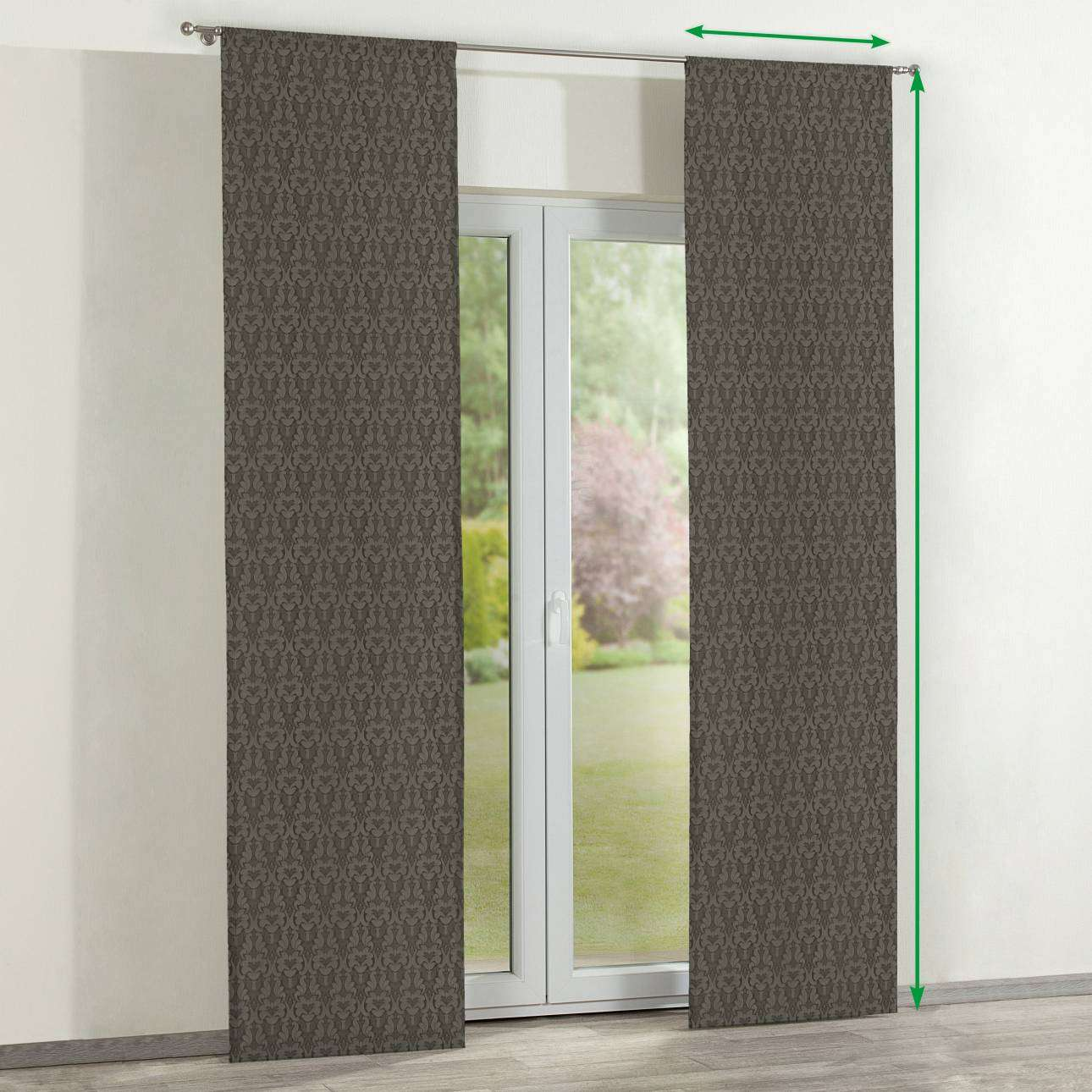 Slot panel curtains – Set of 2 in collection Victoria, fabric: 130-09