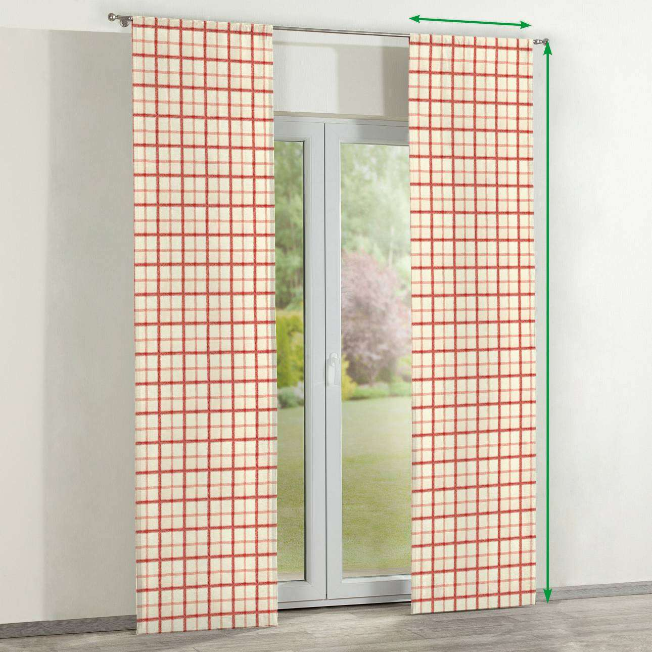 Slot panel curtains – Set of 2 in collection Avinon, fabric: 131-15