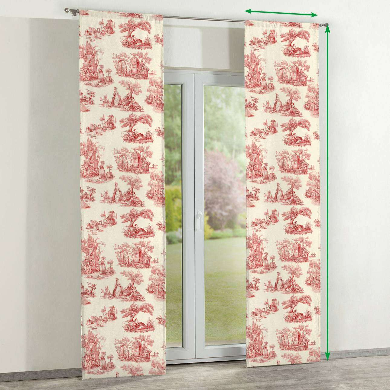 Slot panel curtains – Set of 2 in collection Avinon, fabric: 132-15