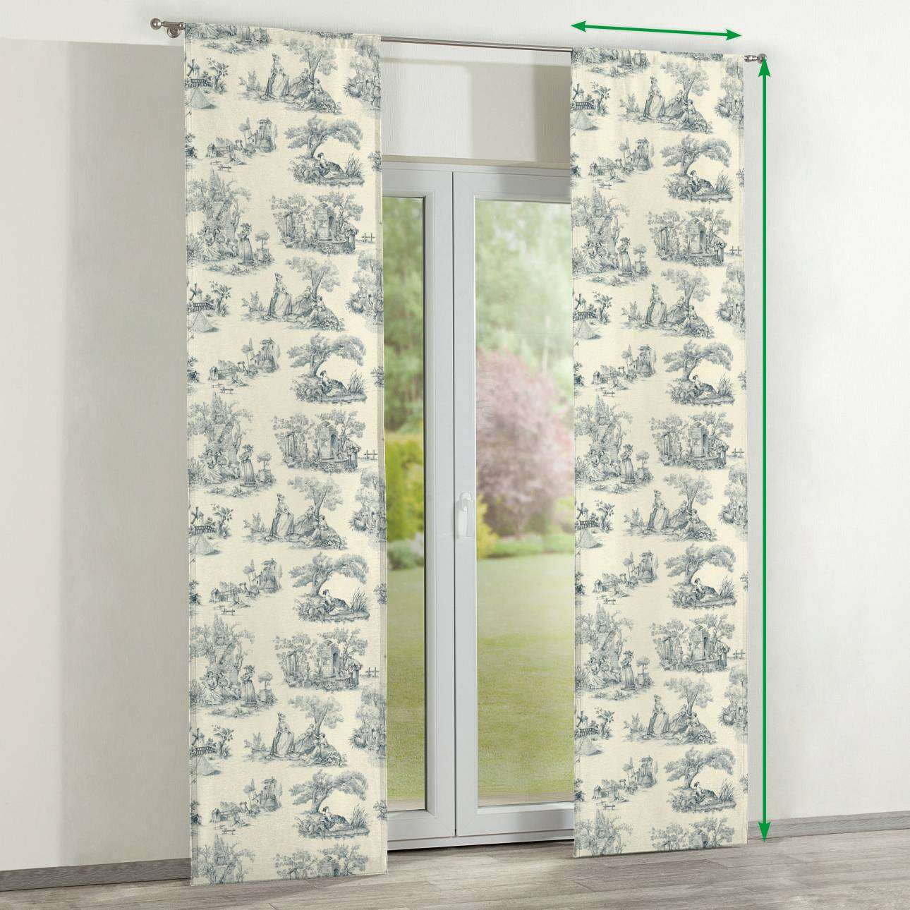 Slot panel curtains – Set of 2 in collection Avinon, fabric: 132-66