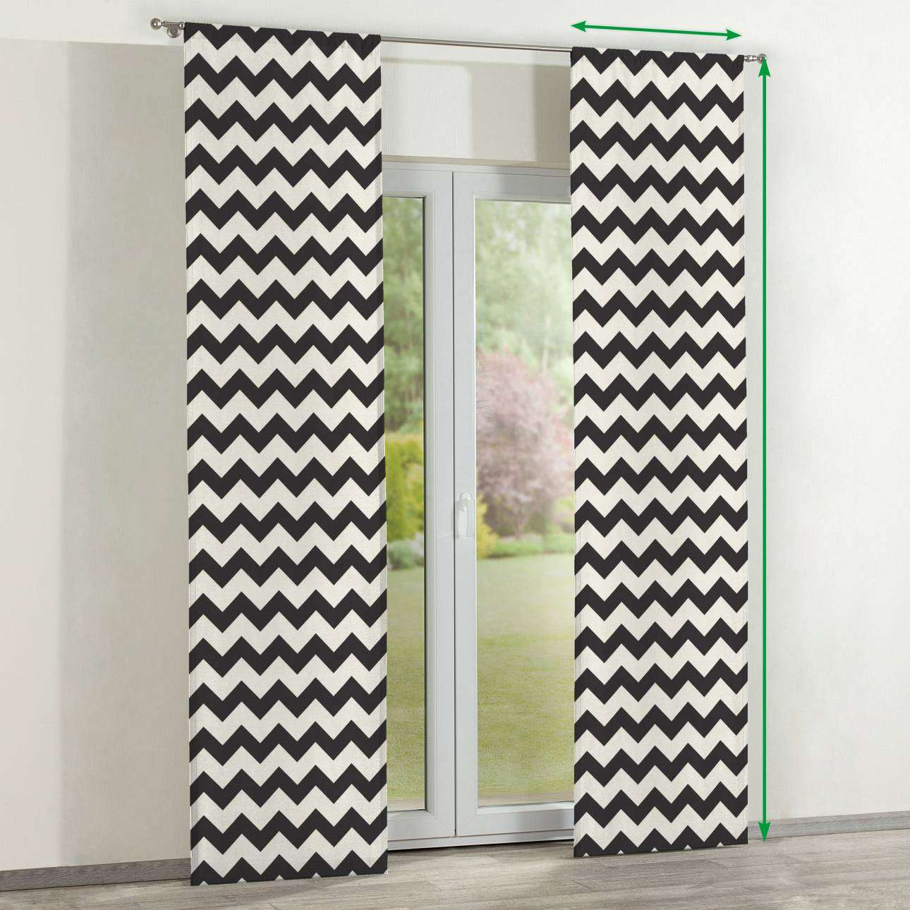 Slot panel curtains – Set of 2 in collection Comic Book & Geo Prints, fabric: 135-02