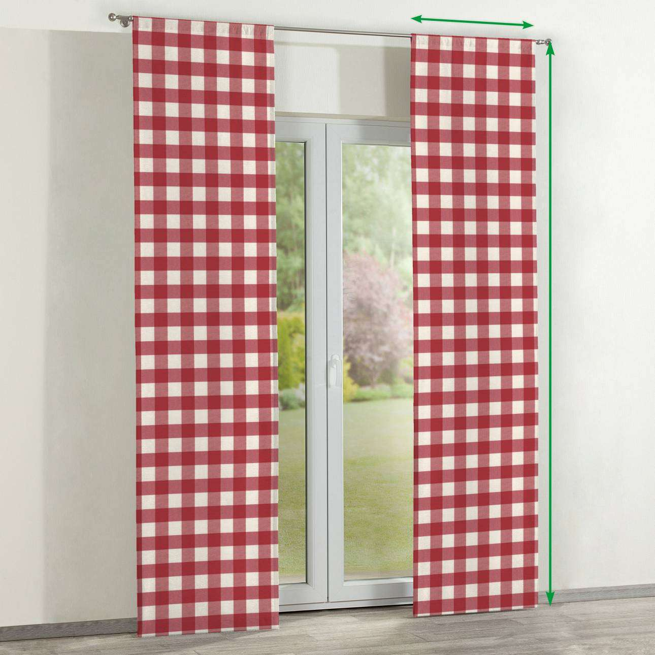 Slot panel curtains – Set of 2 in collection Quadro, fabric: 136-18