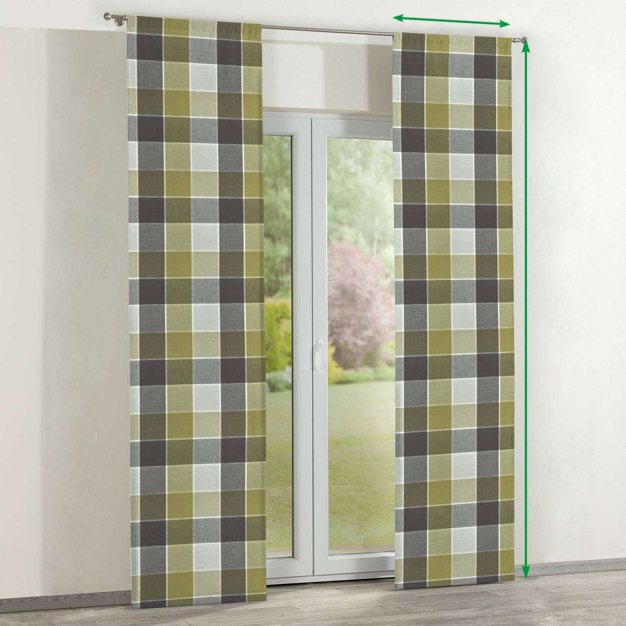 Slot panel curtains – Set of 2 in collection Cardiff, fabric: 136-20