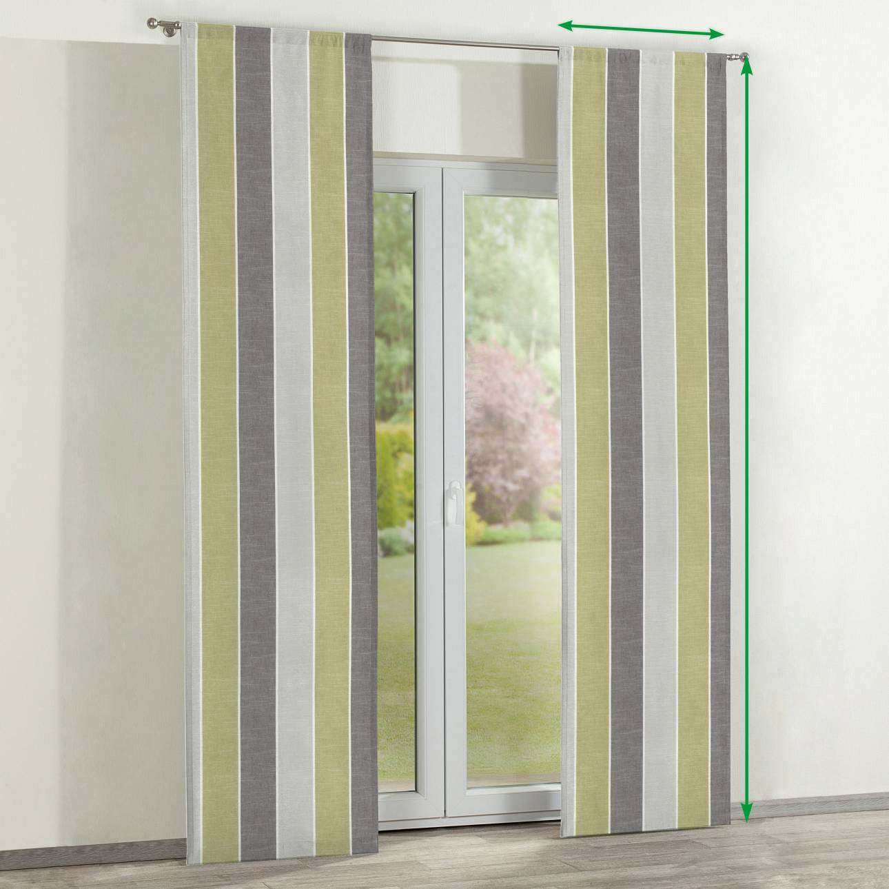 Slot panel curtains – Set of 2 in collection Cardiff, fabric: 136-23
