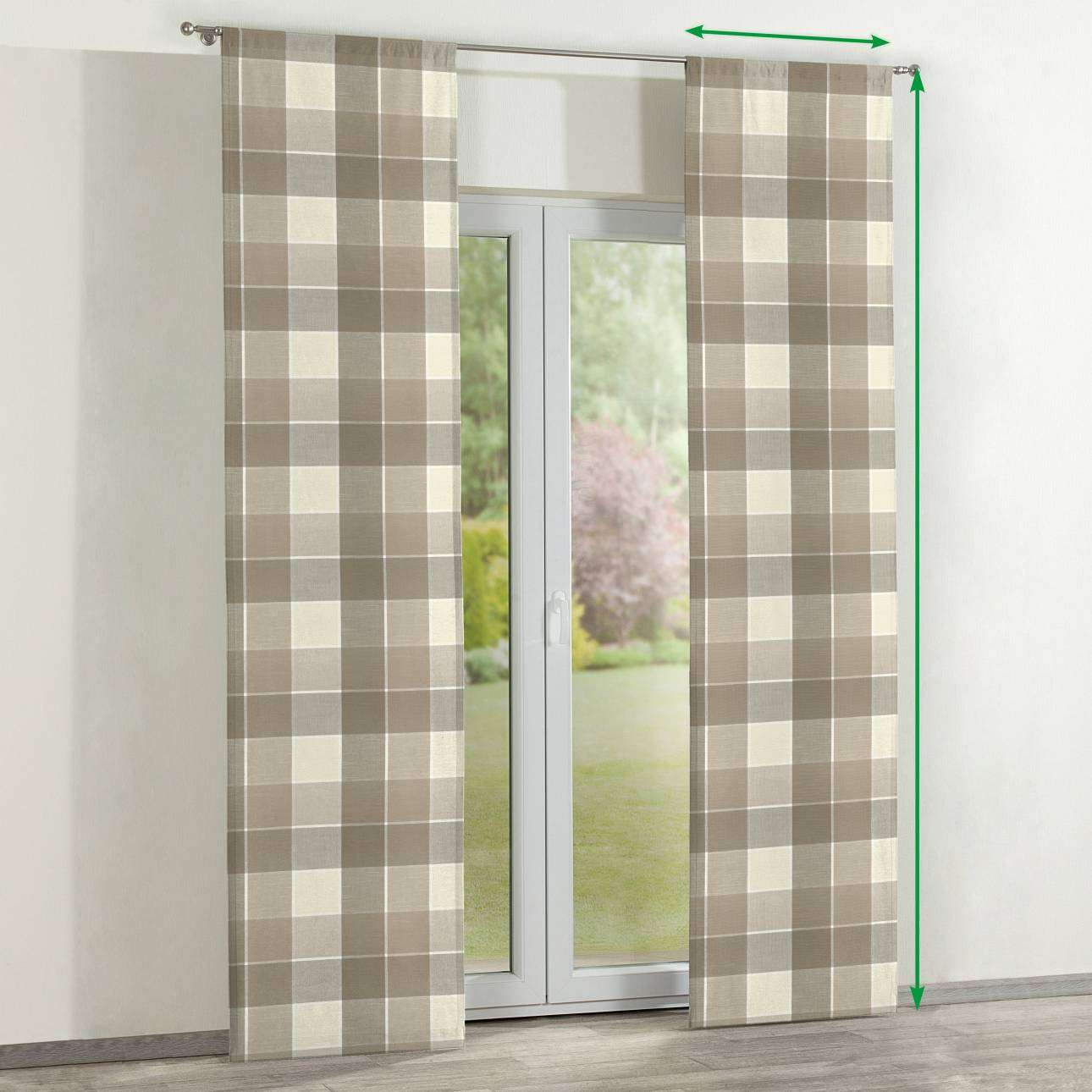 Slot panel curtains – Set of 2 in collection Cardiff, fabric: 136-28