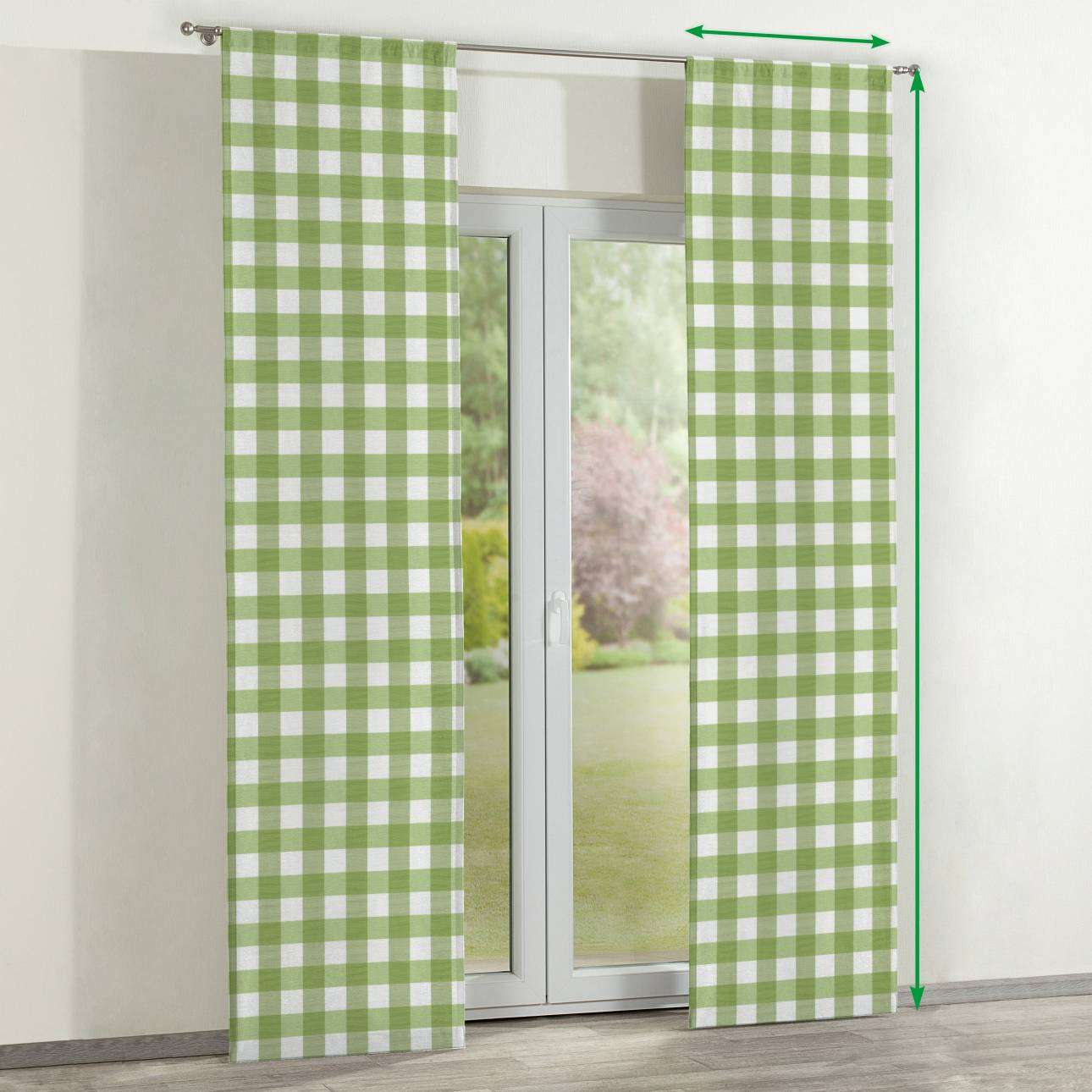 Slot panel curtains – Set of 2 in collection Quadro, fabric: 136-36