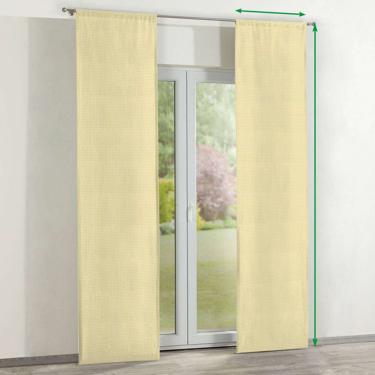Slot panel curtains – Set of 2 in collection Ashley, fabric: 137-64