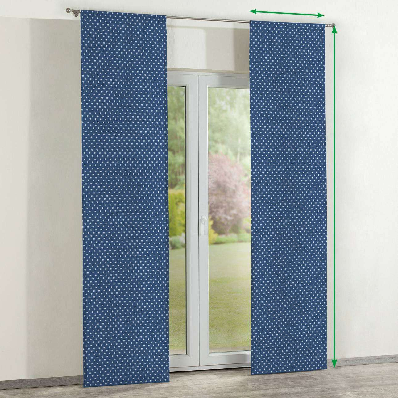 Slot panel curtains – Set of 2 in collection Ashley, fabric: 137-72