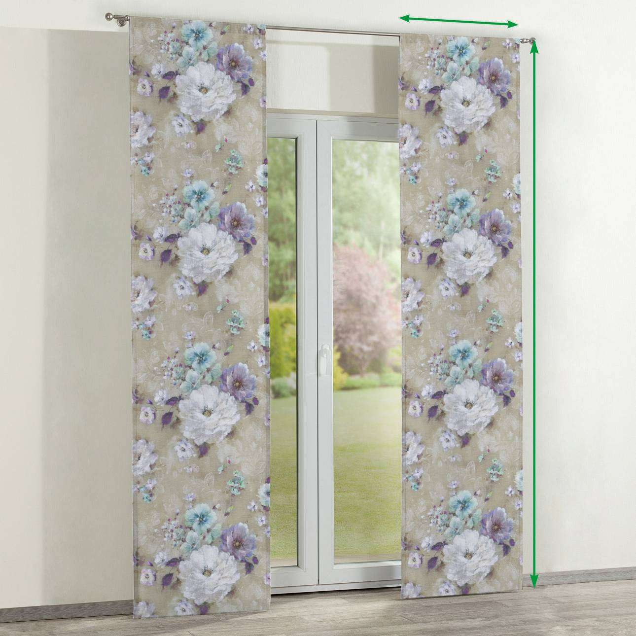 Slot panel curtains – Set of 2 in collection Monet, fabric: 137-82
