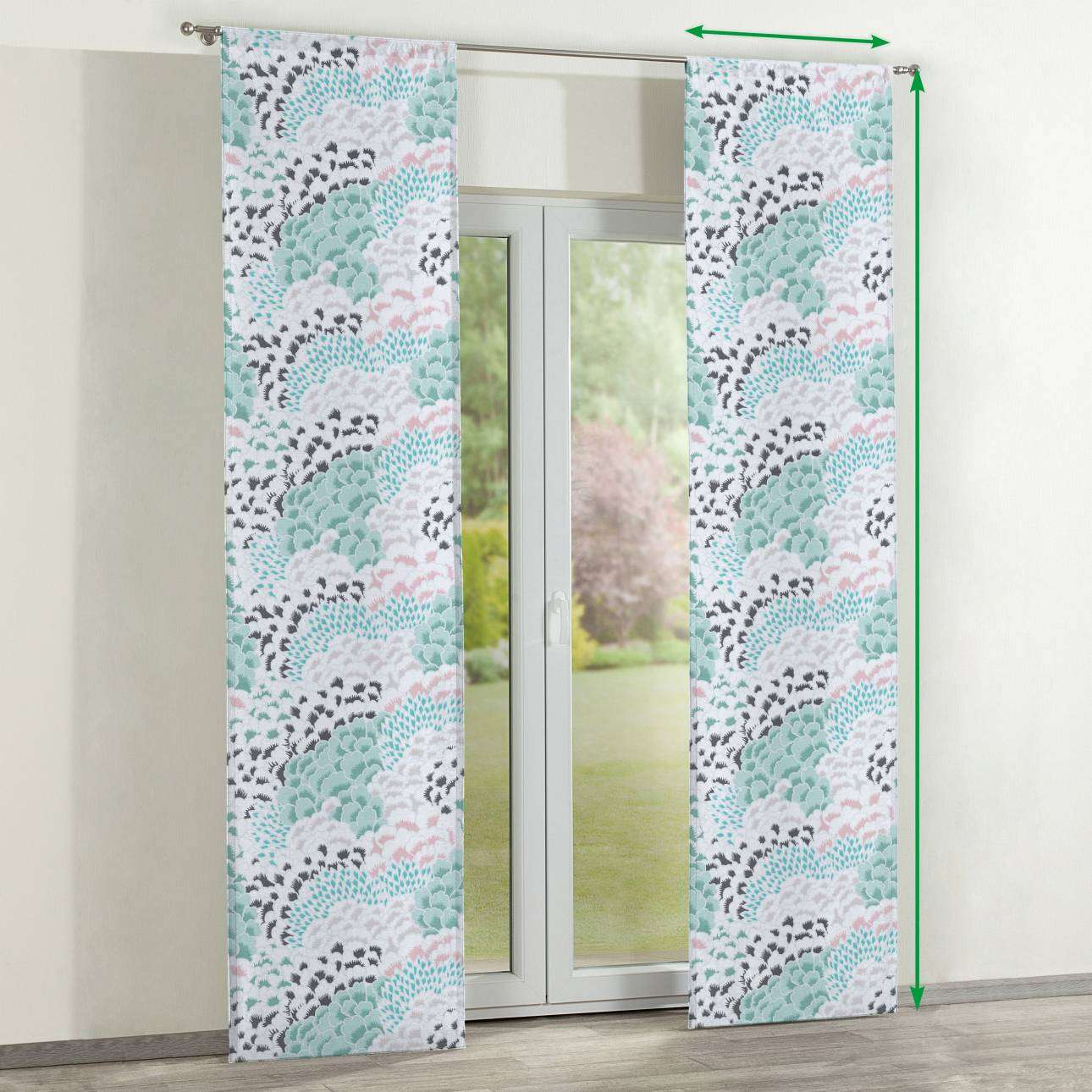 Slot panel curtains – Set of 2 in collection Brooklyn, fabric: 137-89