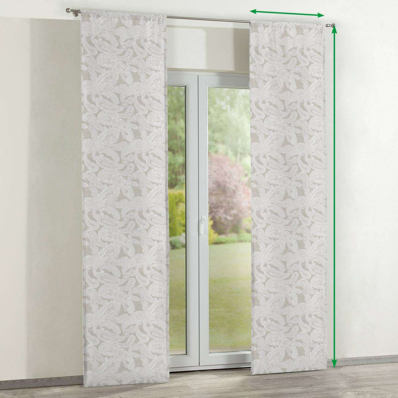 Slot panel curtains – Set of 2 in collection Rustica, fabric: 138-10