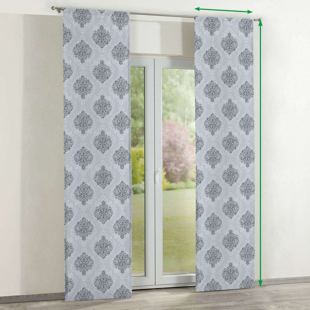Slot panel curtains – Set of 2 in collection Rustica, fabric: 138-16