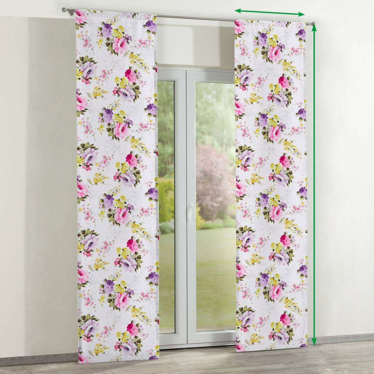 Slot panel curtains – Set of 2 in collection Monet, fabric: 140-00