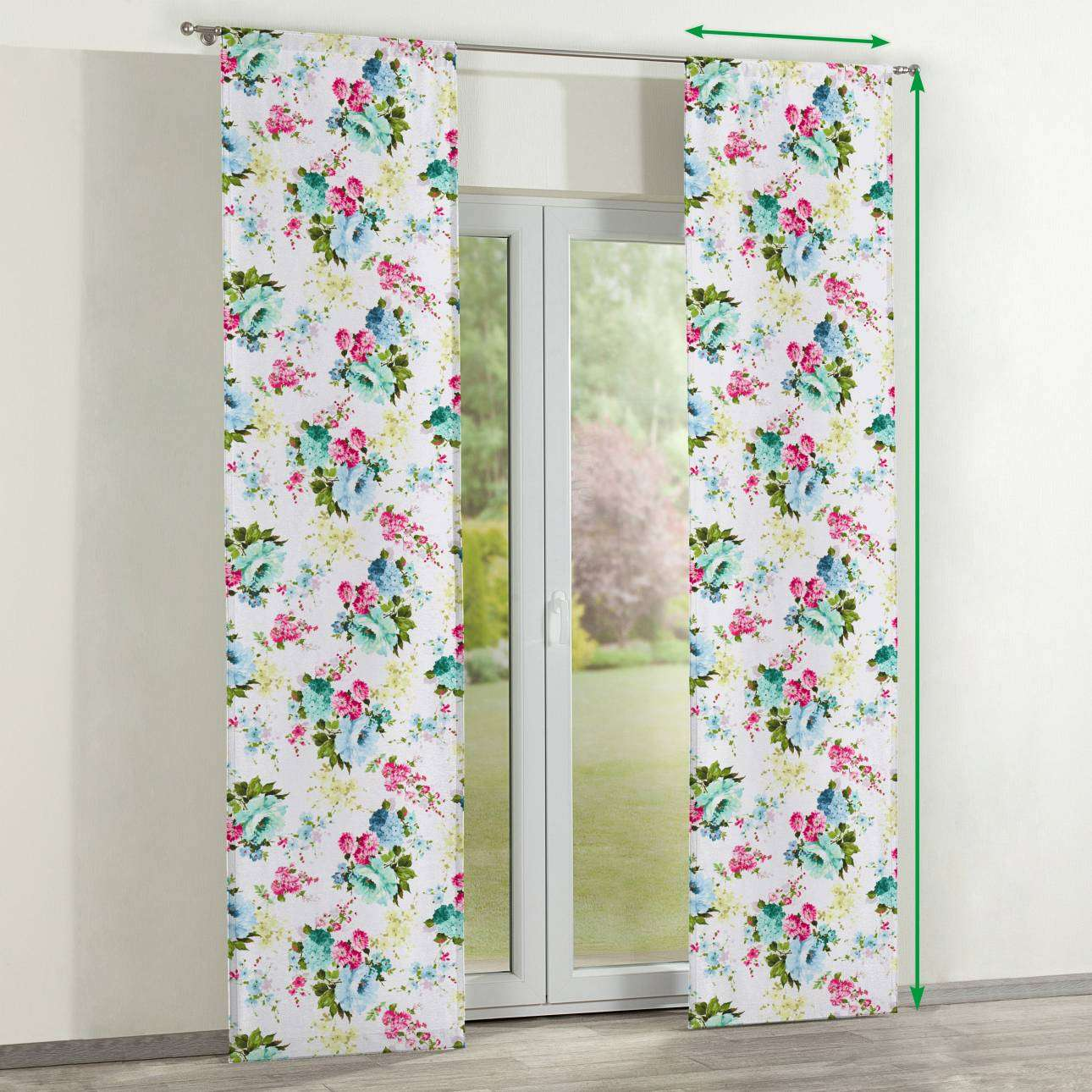 Slot panel curtains – Set of 2 in collection Monet, fabric: 140-02