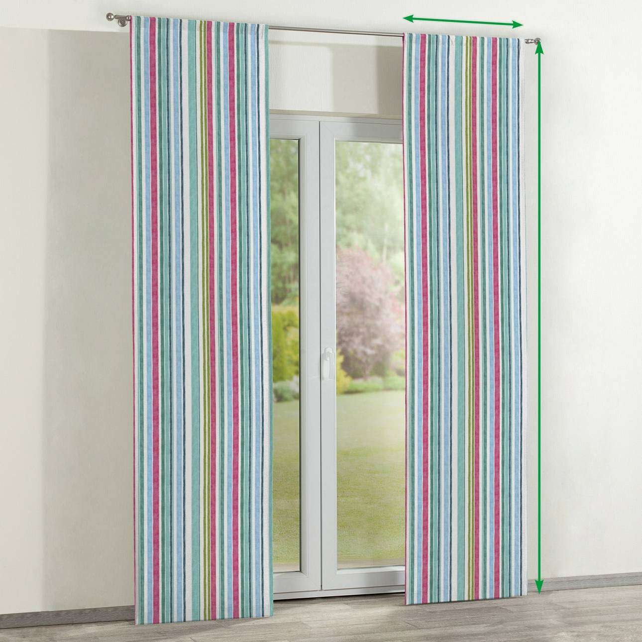 Slot panel curtains – Set of 2 in collection Monet, fabric: 140-03