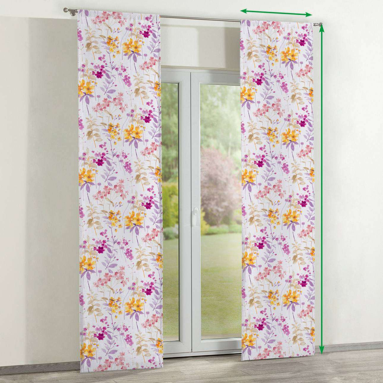 Slot panel curtains – Set of 2 in collection Monet, fabric: 140-04