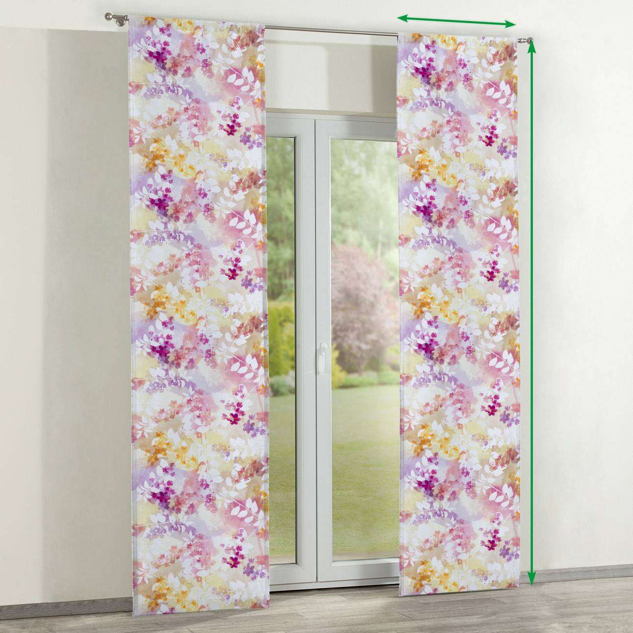 Slot panel curtains – Set of 2 in collection Monet, fabric: 140-05