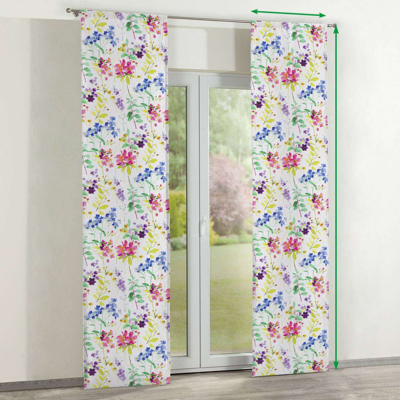Slot panel curtains – Set of 2 in collection Monet, fabric: 140-06
