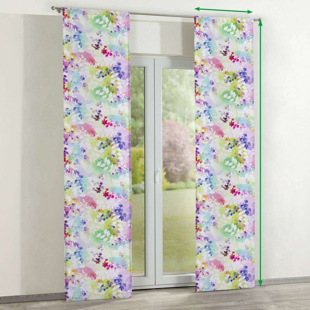 Slot panel curtains – Set of 2 in collection Monet, fabric: 140-07