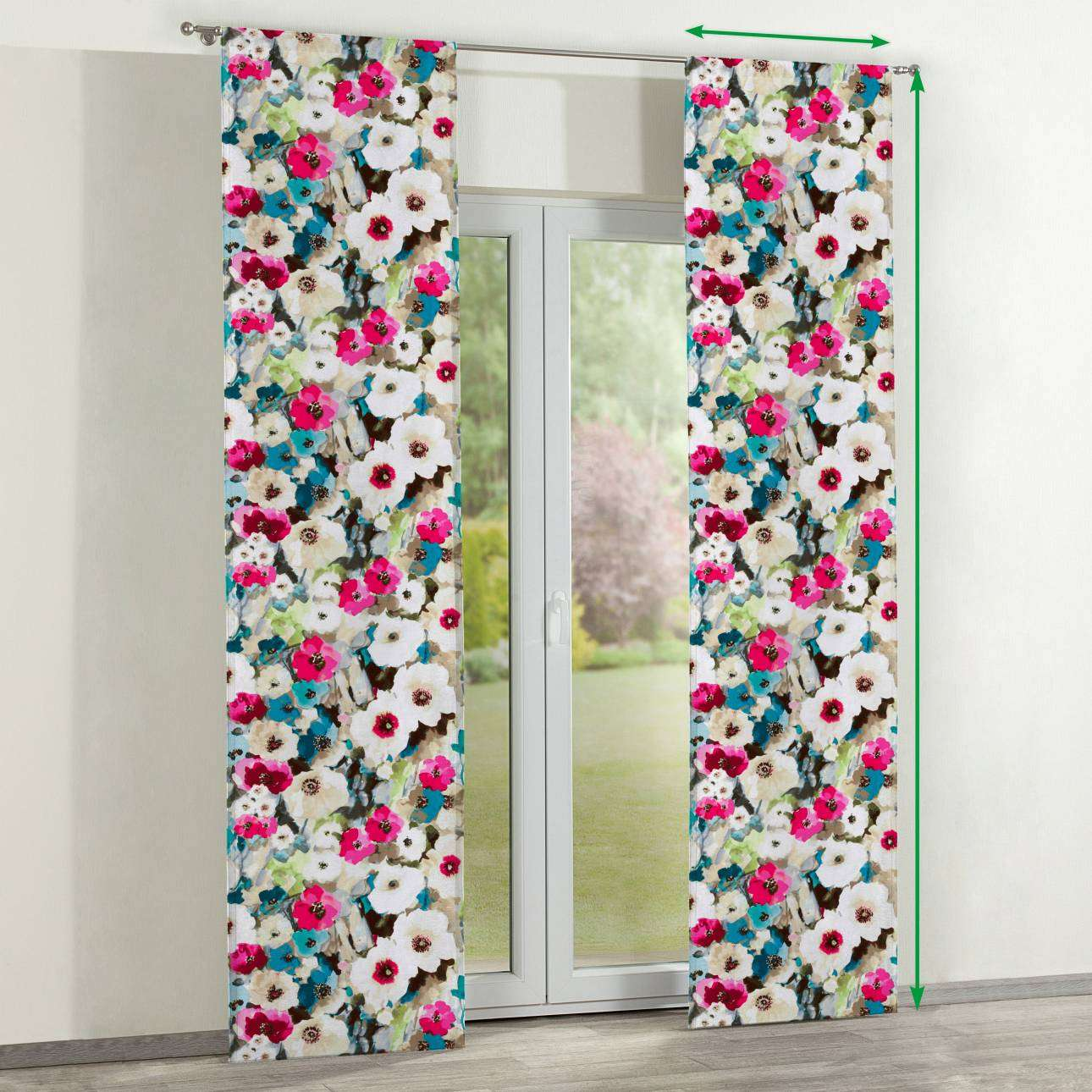 Slot panel curtains – Set of 2 in collection Monet, fabric: 140-08