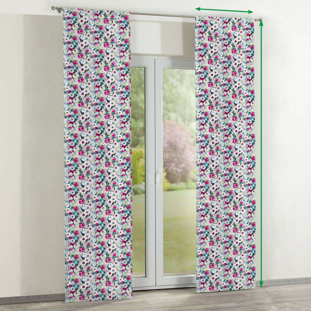 Slot panel curtains – Set of 2 in collection Monet, fabric: 140-10
