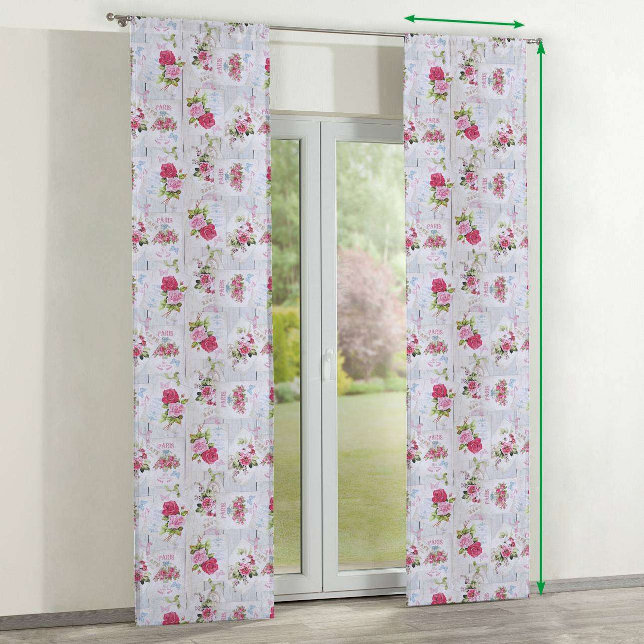 Slot panel curtains – Set of 2 in collection Ashley, fabric: 140-19