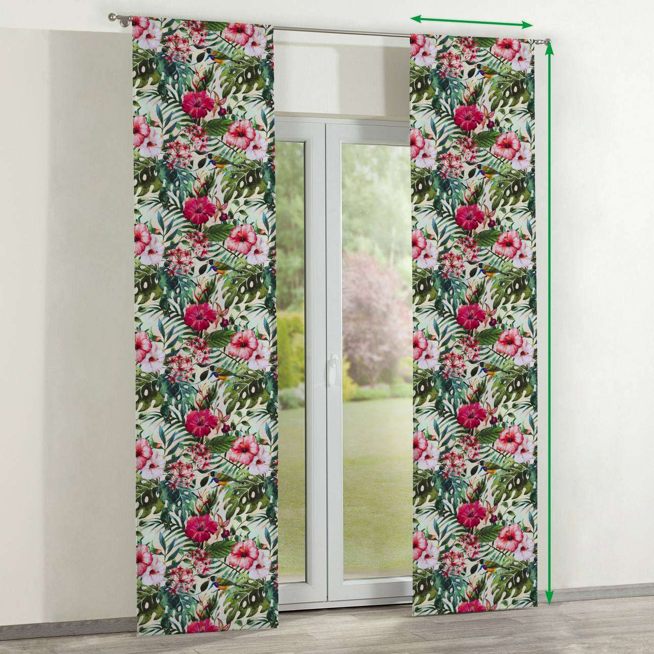 Slot panel curtains – Set of 2 in collection New Art, fabric: 140-21