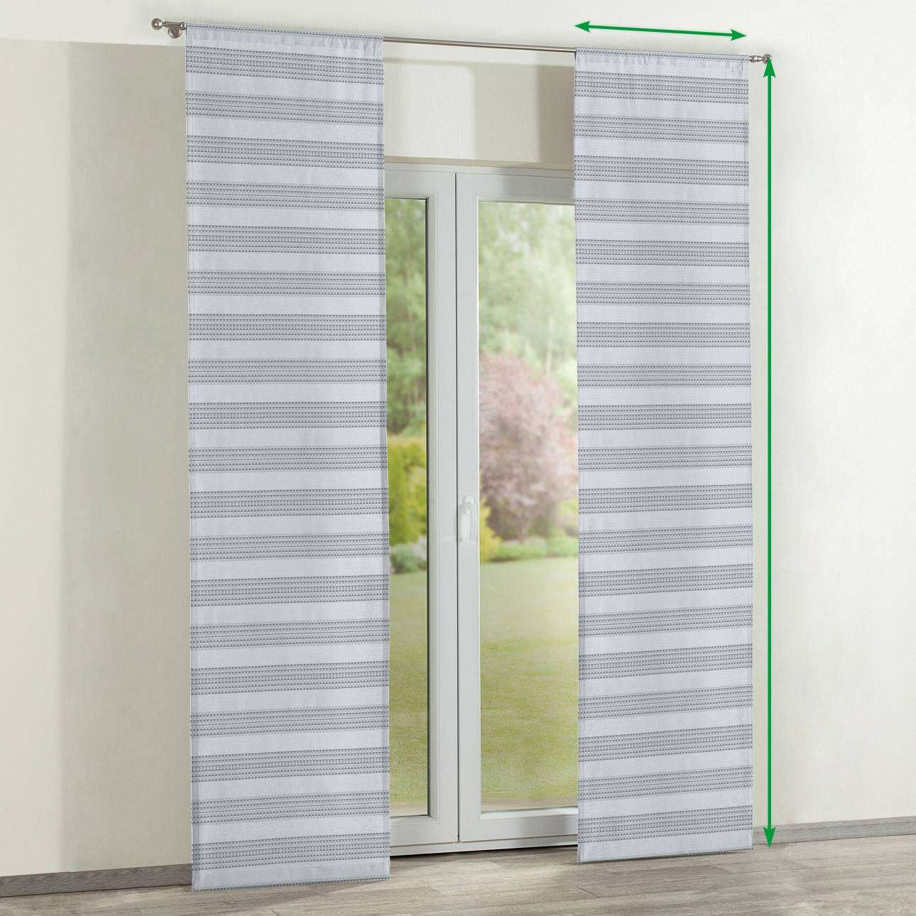 Slot panel curtains – Set of 2 in collection Rustica, fabric: 140-32