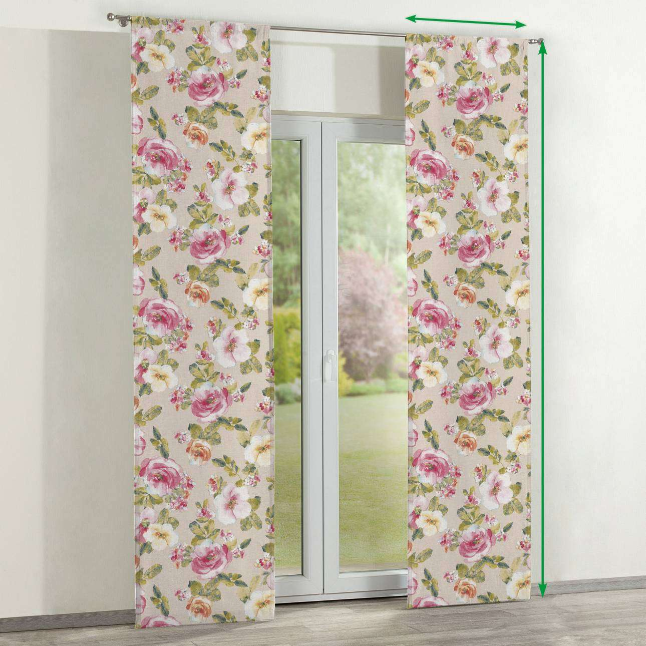 Slot panel curtains – Set of 2 in collection Londres, fabric: 140-43