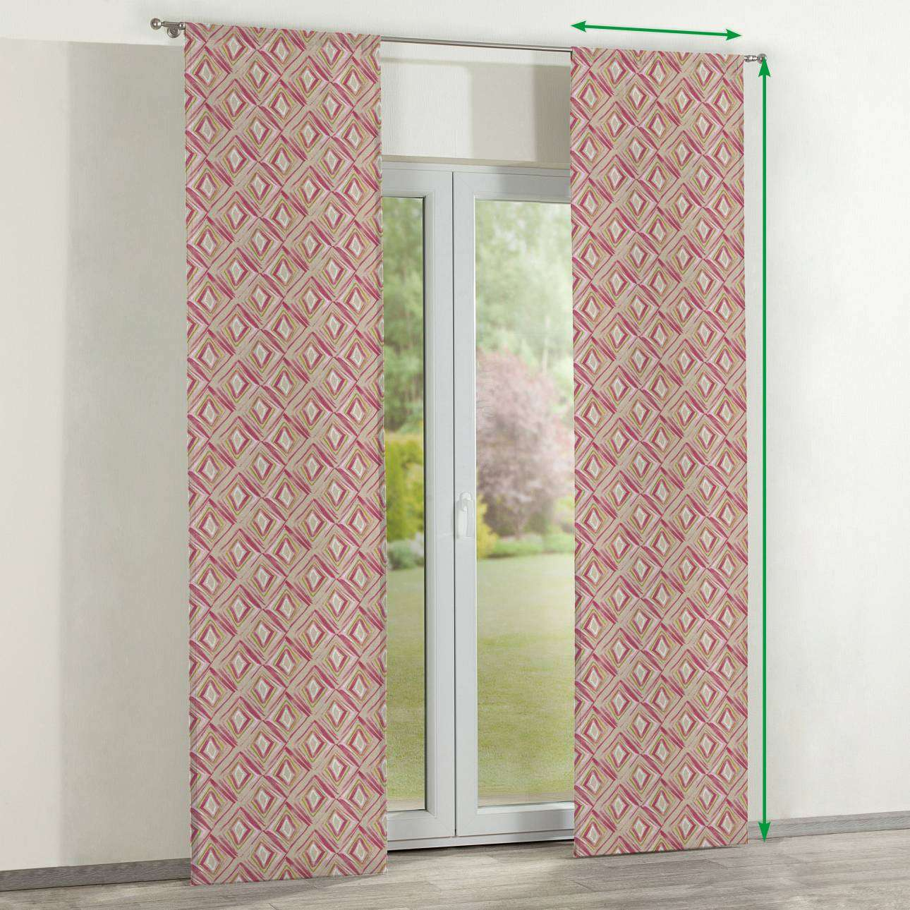 Slot panel curtains – Set of 2 in collection Londres, fabric: 140-45