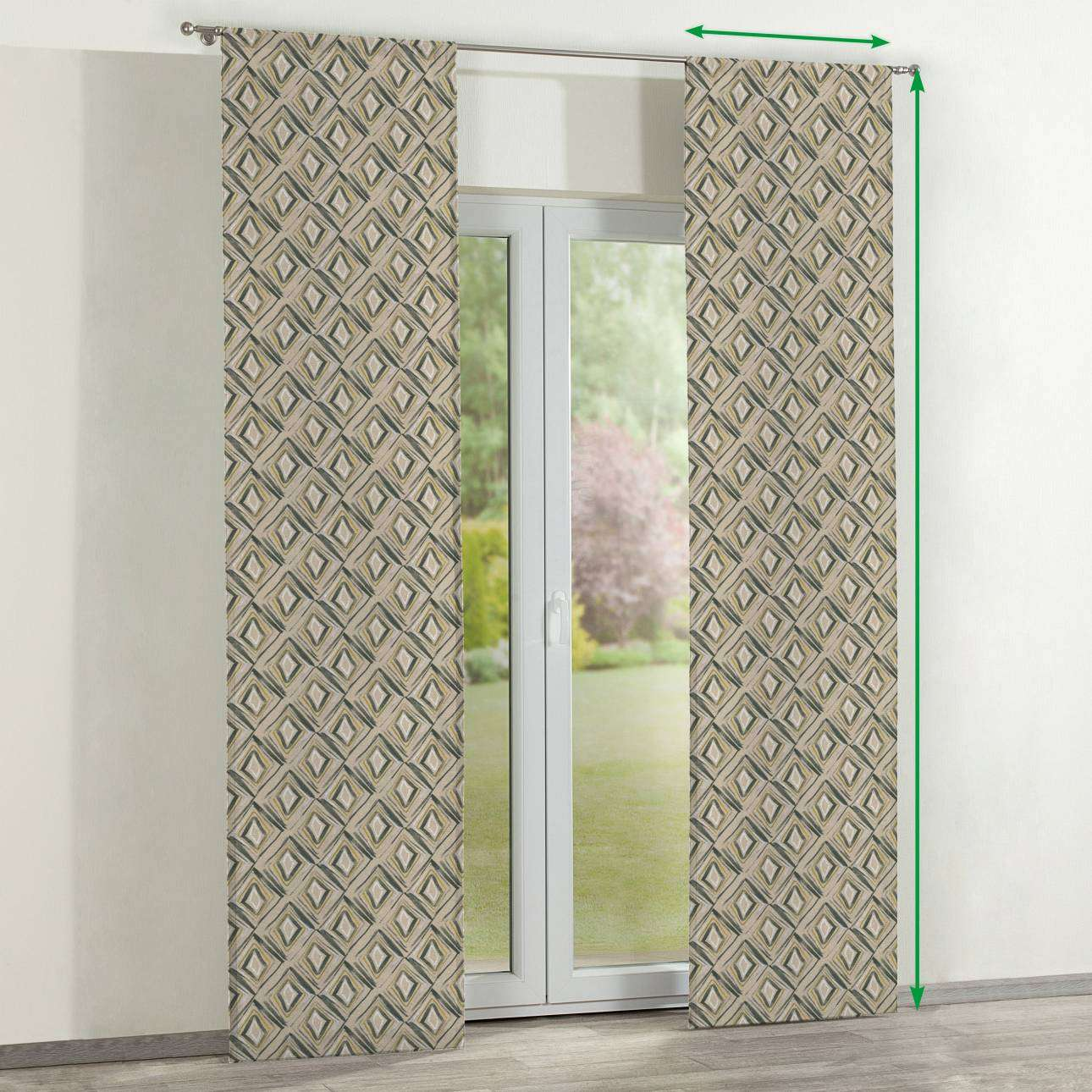 Slot panel curtains – Set of 2 in collection Londres, fabric: 140-46