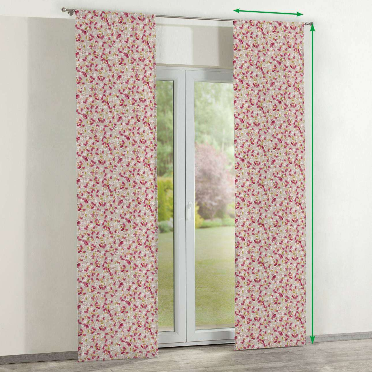 Slot panel curtains – Set of 2 in collection Londres, fabric: 140-47