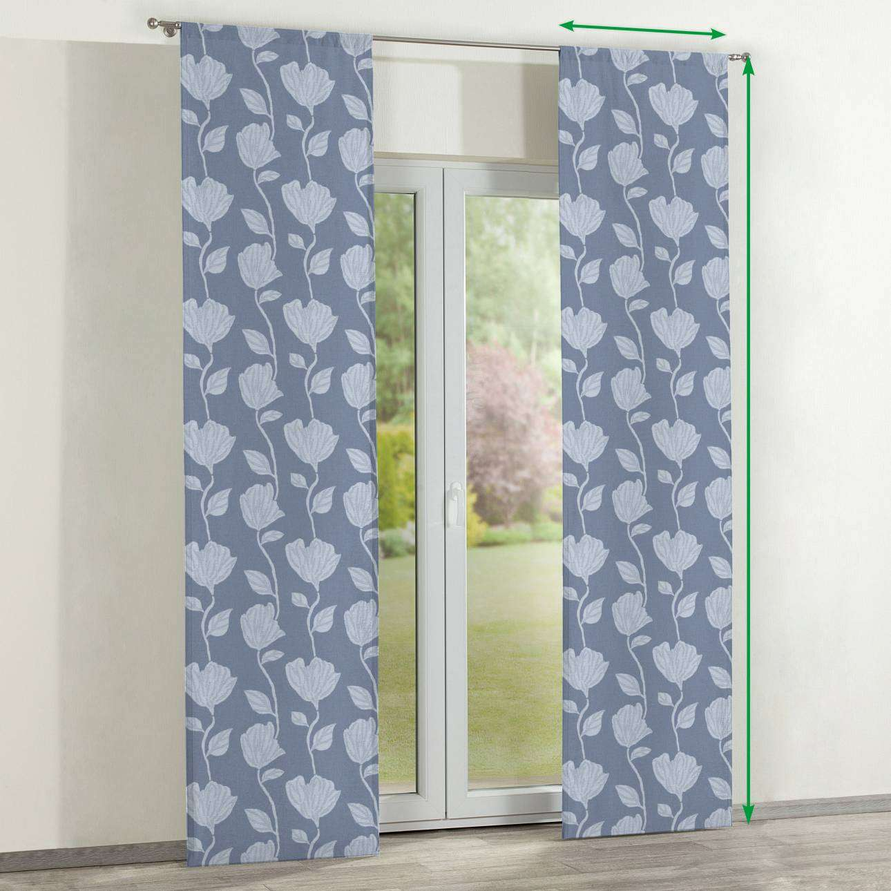 Slot panel curtains – Set of 2 in collection Venice, fabric: 140-61