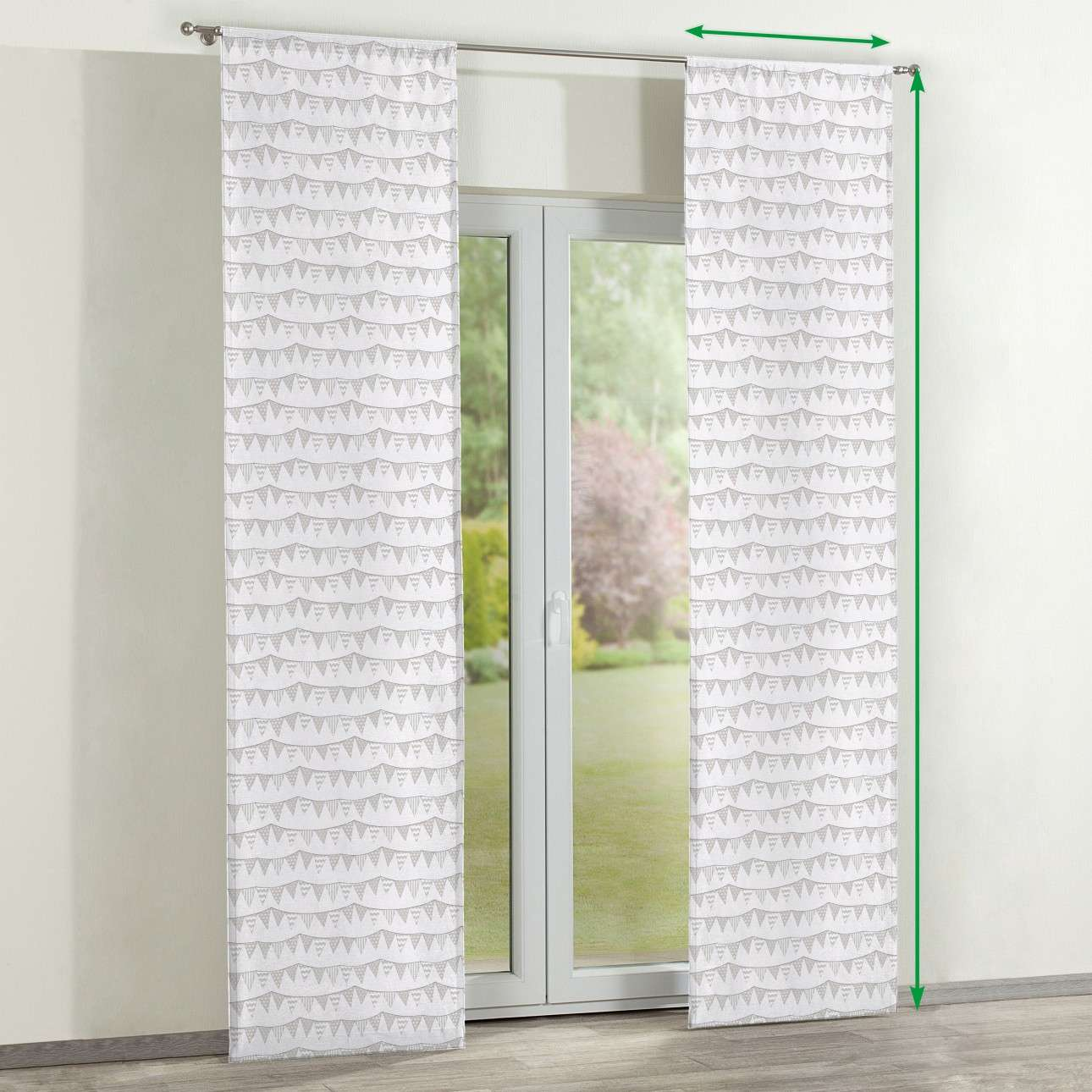 Slot panel curtains – Set of 2 in collection Marina, fabric: 140-65