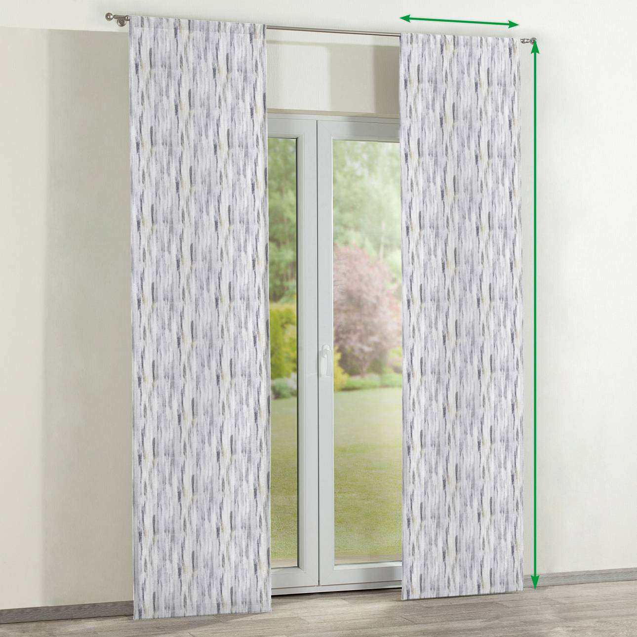 Slot panel curtains – Set of 2 in collection Aquarelle, fabric: 140-66