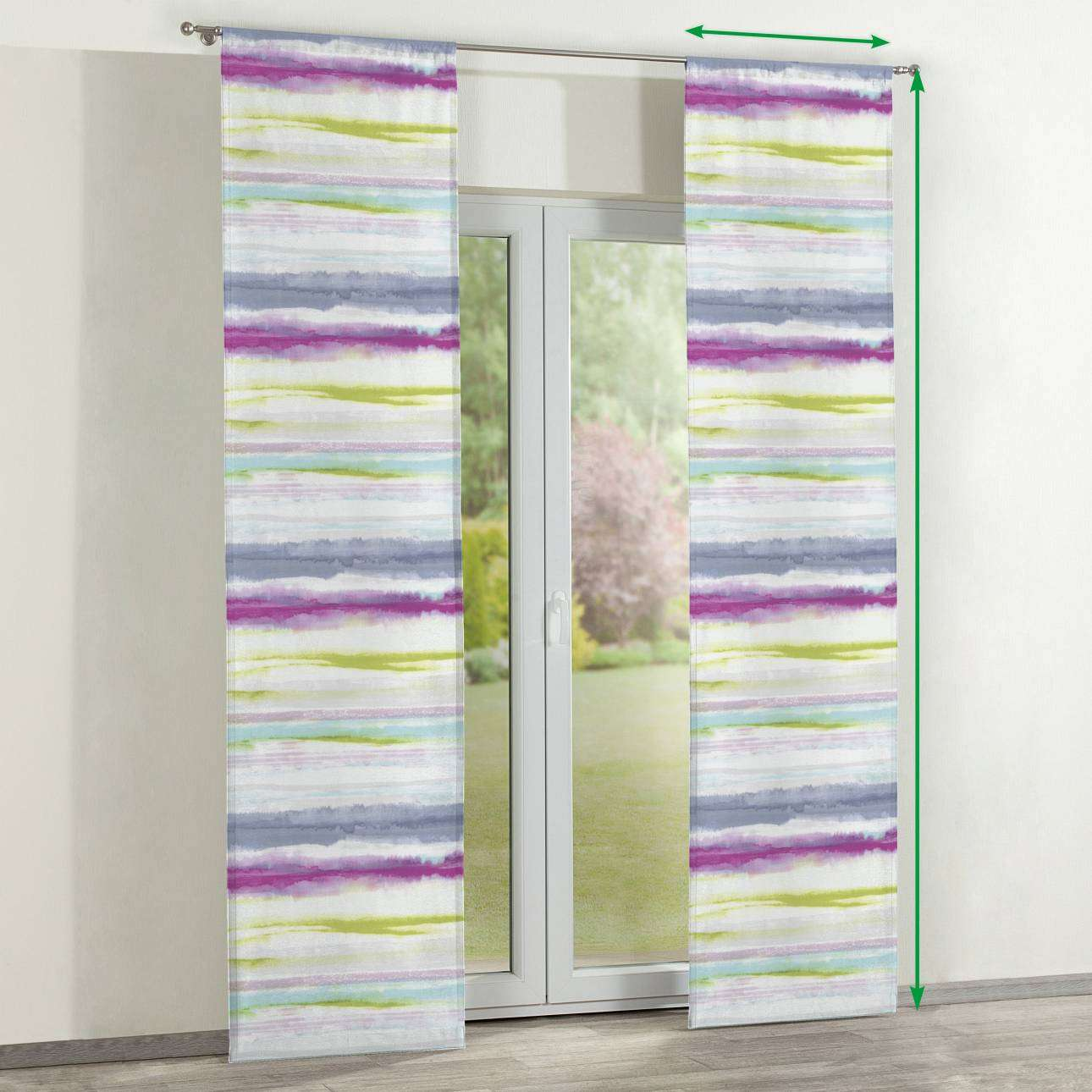 Slot panel curtains – Set of 2 in collection Aquarelle, fabric: 140-69