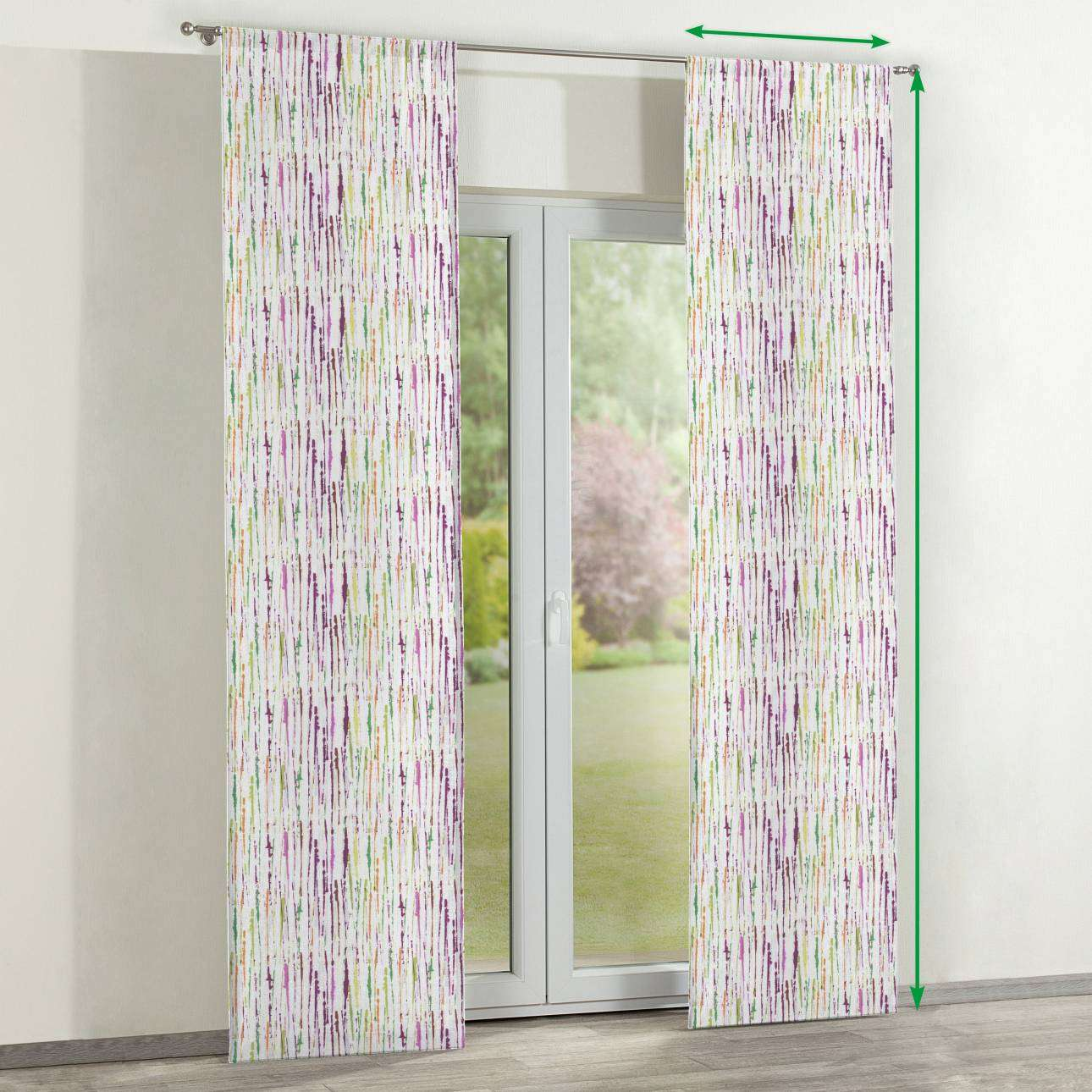 Slot panel curtains – Set of 2 in collection Aquarelle, fabric: 140-72