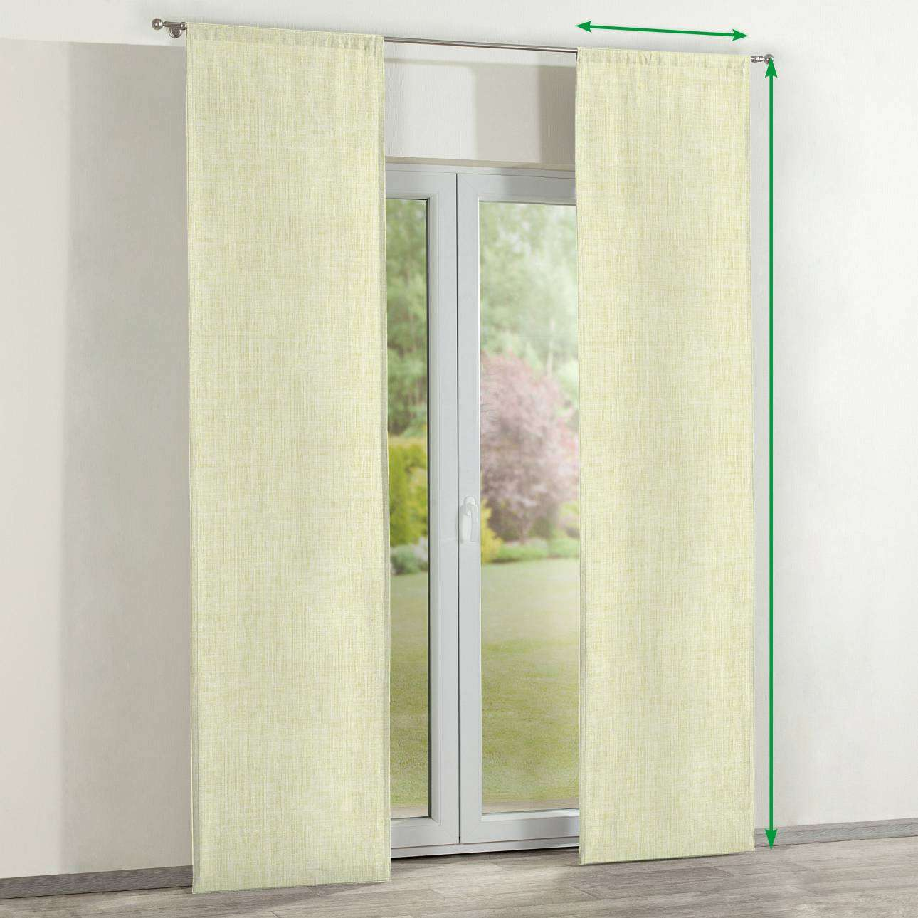 Slot panel curtains – Set of 2 in collection Aquarelle, fabric: 140-73