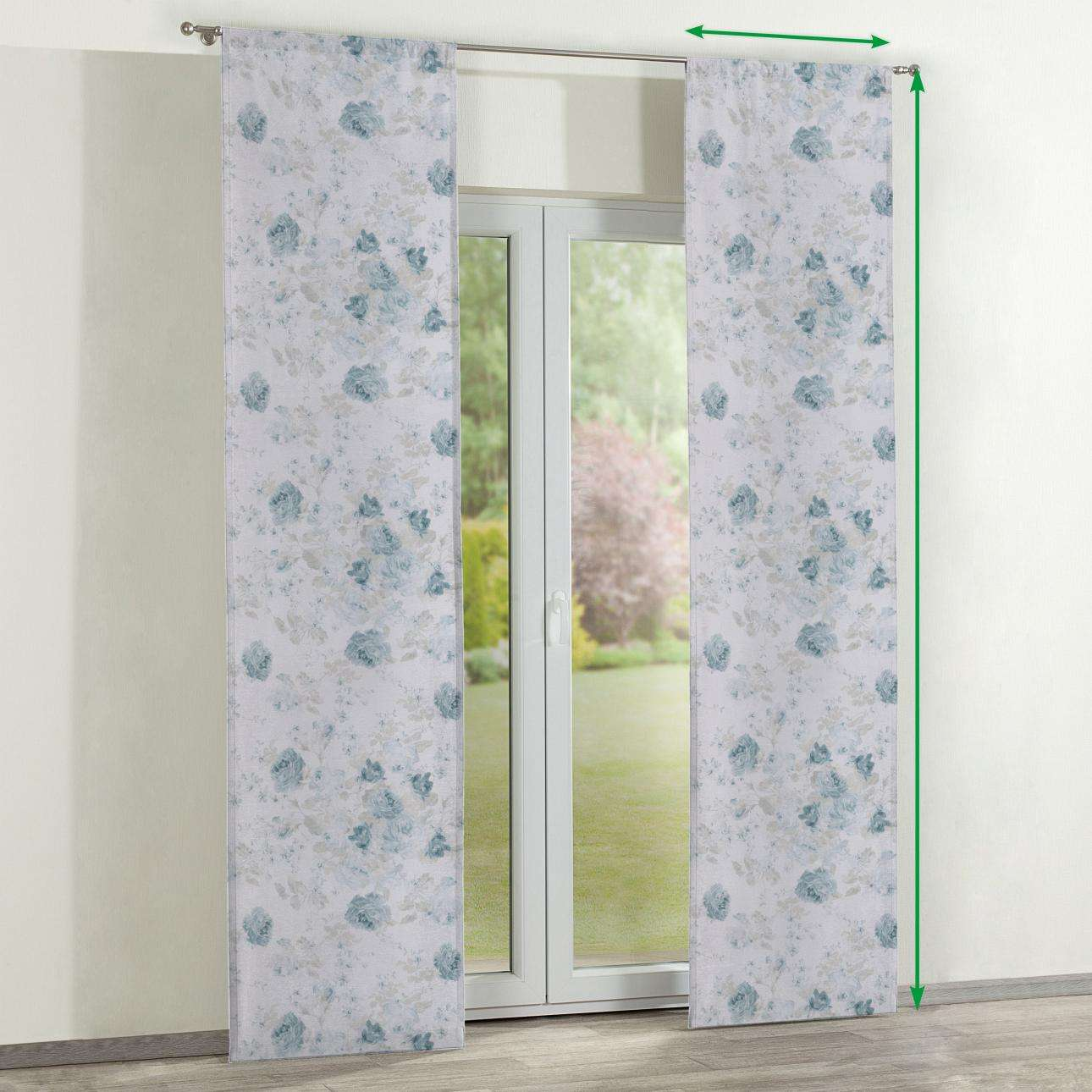 Slot panel curtains – Set of 2 in collection Flowers, fabric: 140-89