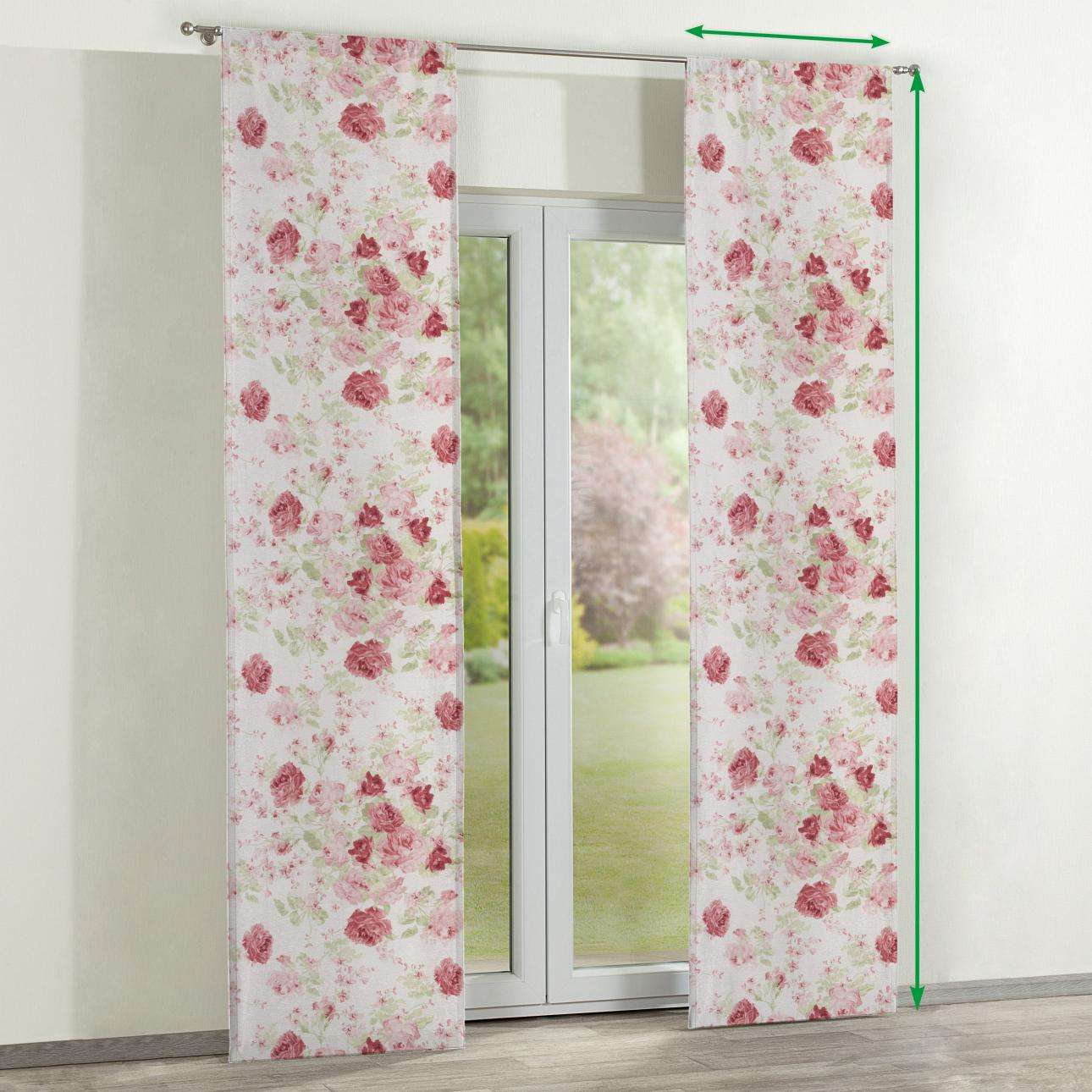 Slot panel curtains – Set of 2 in collection Flowers, fabric: 140-90