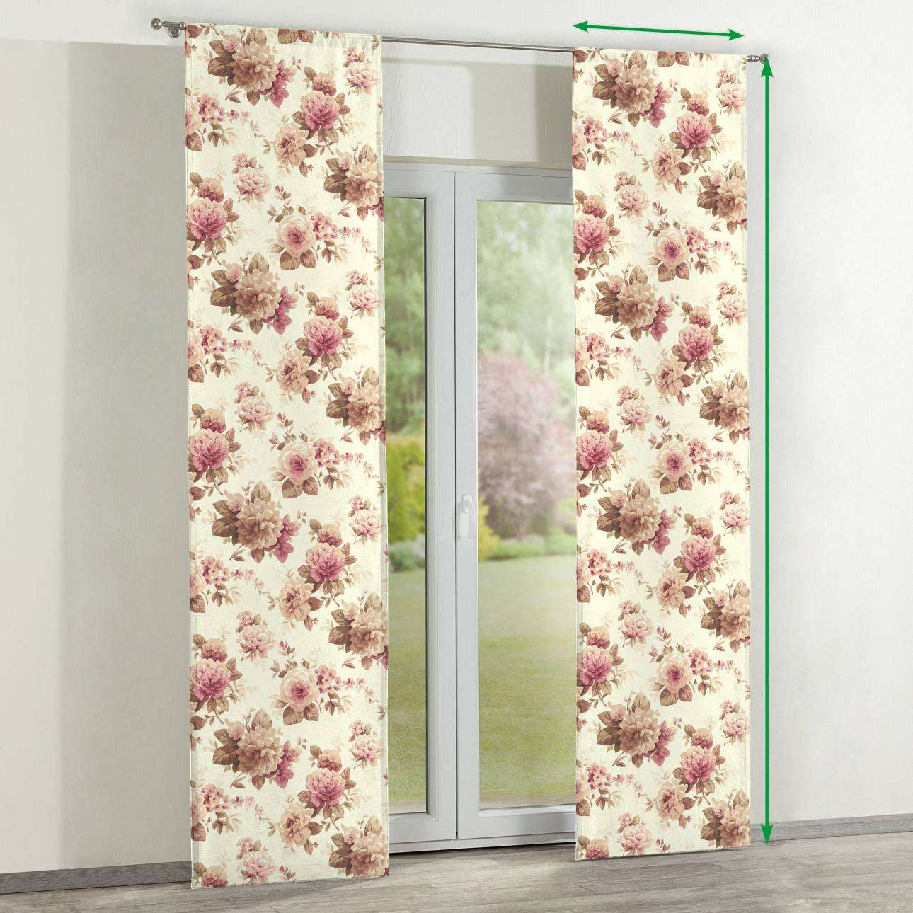 Slot panel curtains – Set of 2 in collection Mirella, fabric: 141-06