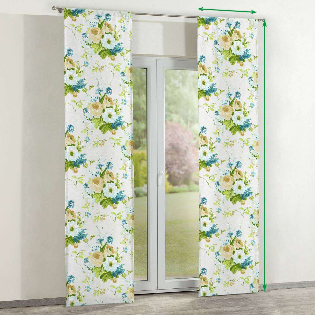 Slot panel curtains – Set of 2 in collection Mirella, fabric: 141-15