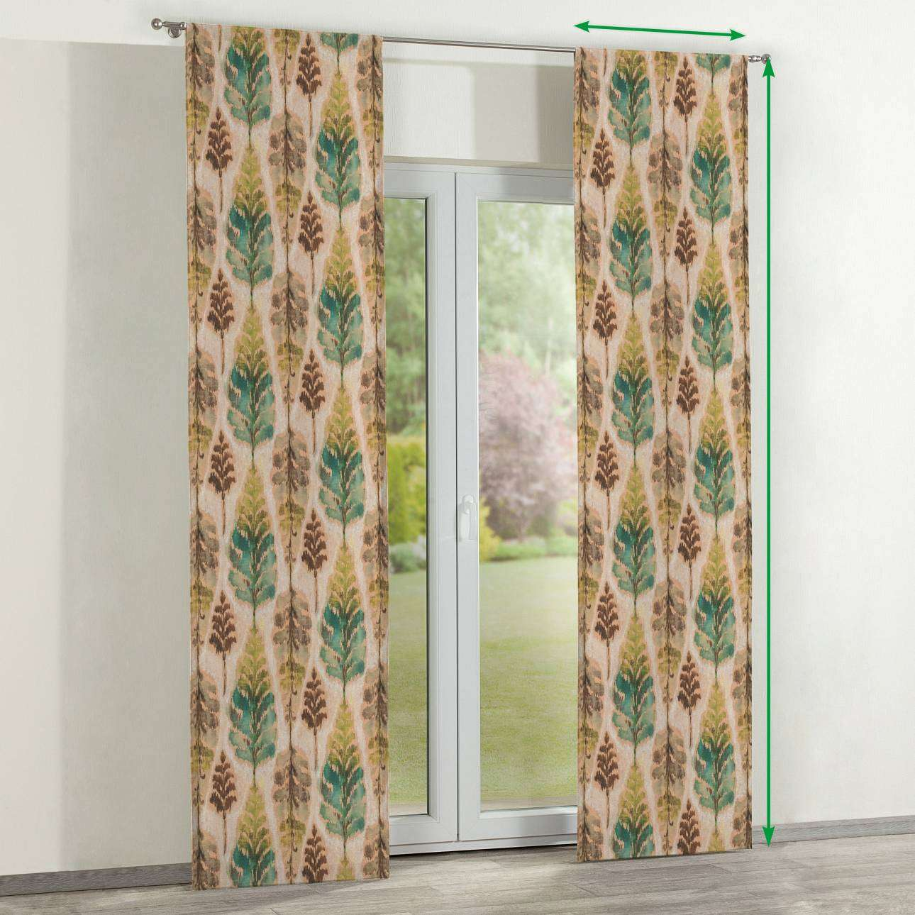Slot panel curtains – Set of 2 in collection Urban Jungle, fabric: 141-60